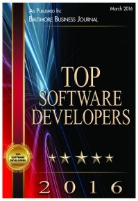 2016 BBJ listed as Top Software Developers in the Baltimore Region
